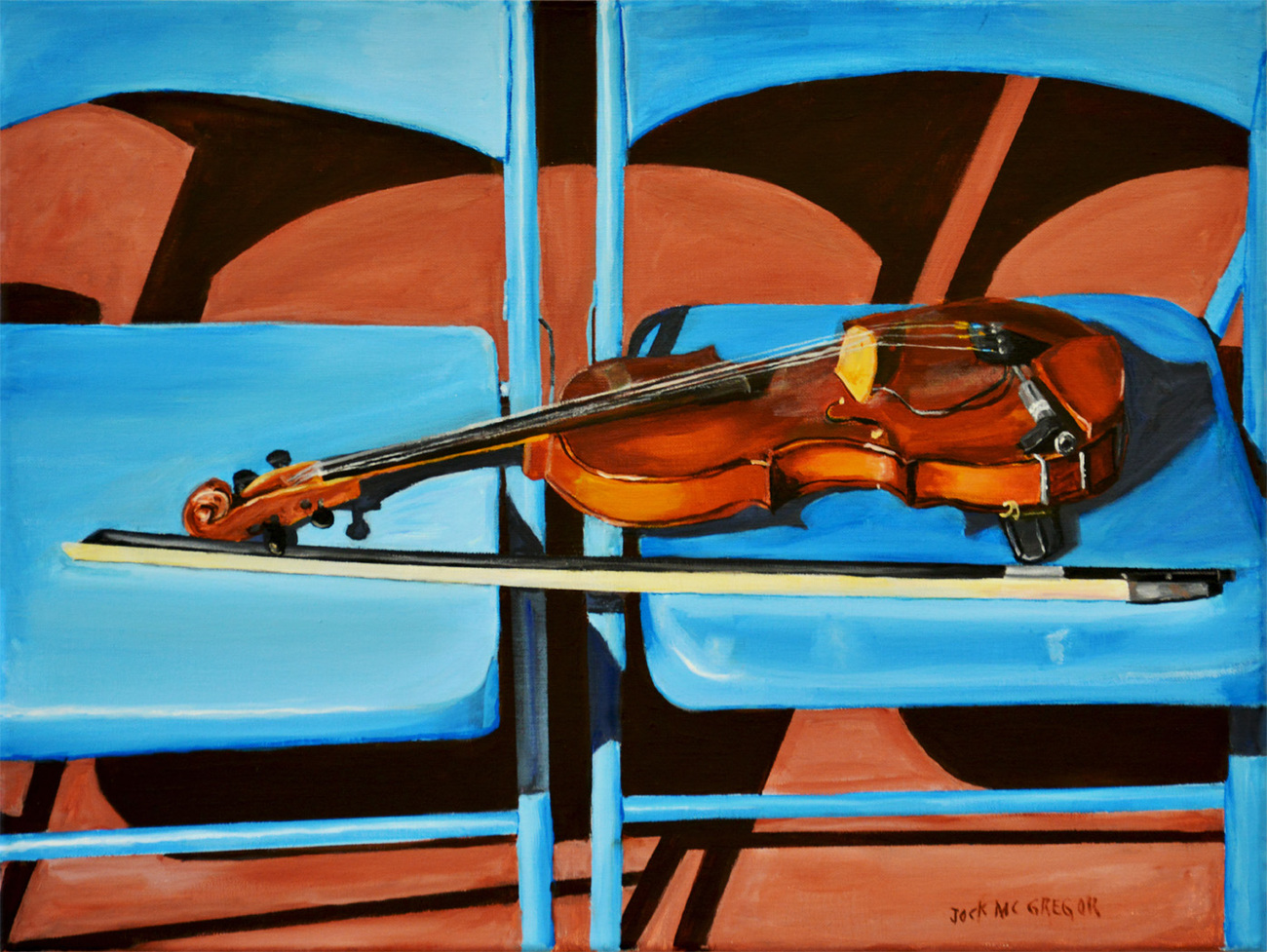 violin on blue chairs by jocko500