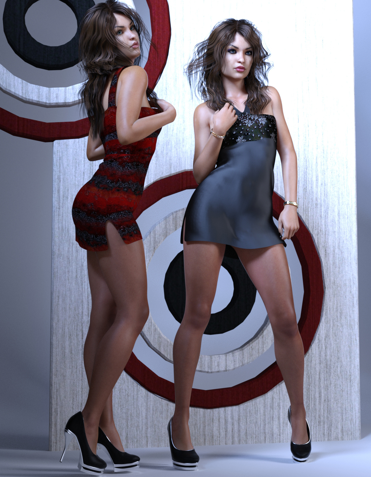 Vilandra and VR Dress for G3F by Anain