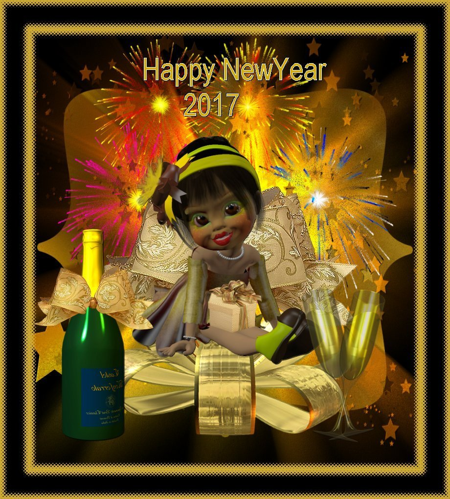 Happy New Year 2017 for all my friends by toyyaris