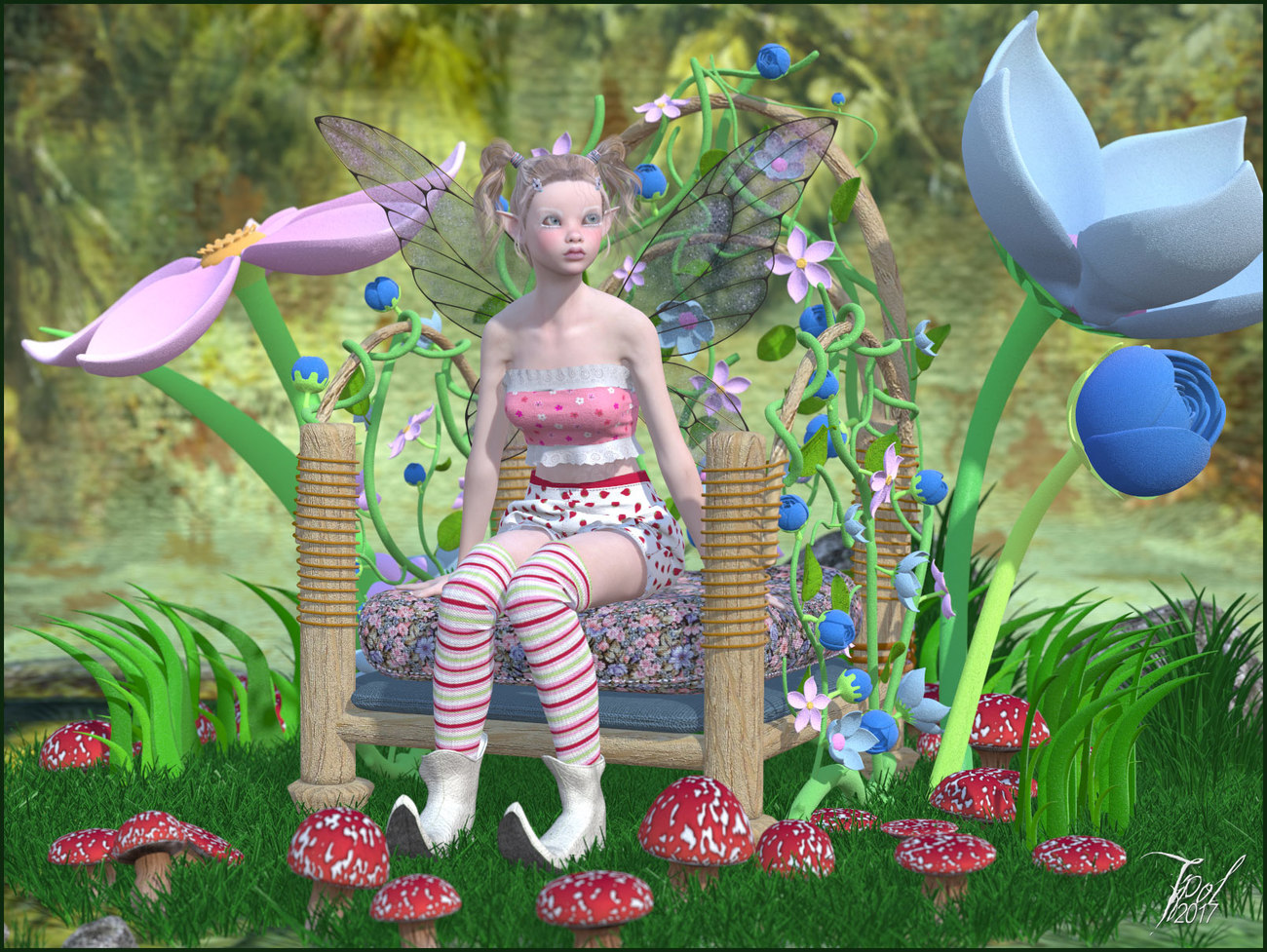 Lutine in the flowers 2 by Tipol