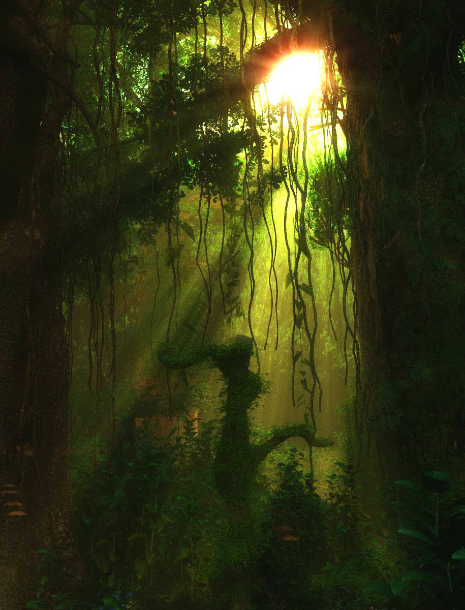 Jungle Rays by Kindredsoul