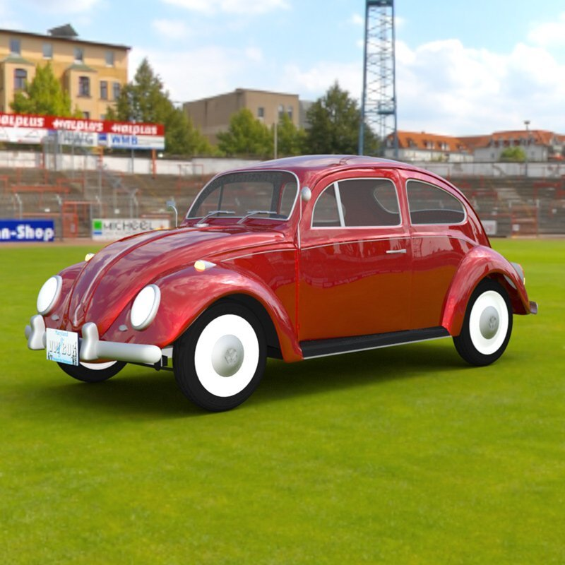 VW Beetle In A Stadium by VanishingPoint