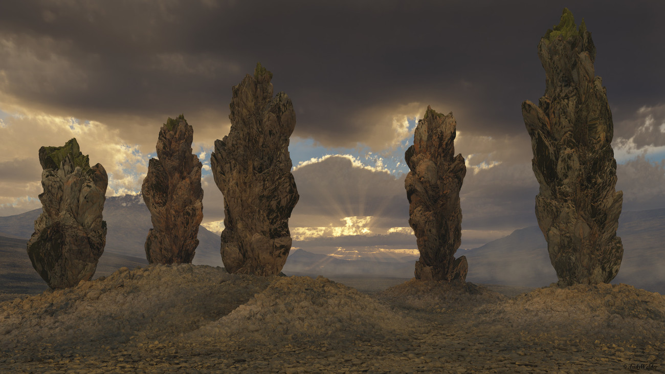 Scorched Pillars by AndyWelder