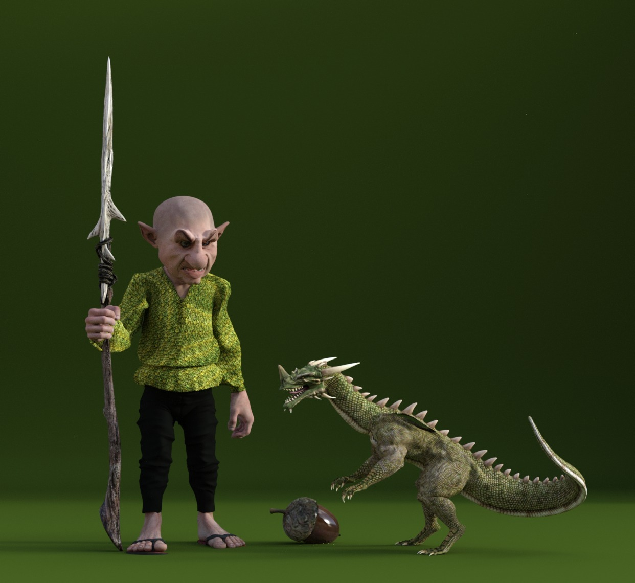 The Goblin and the Dragon. by Barbara1337