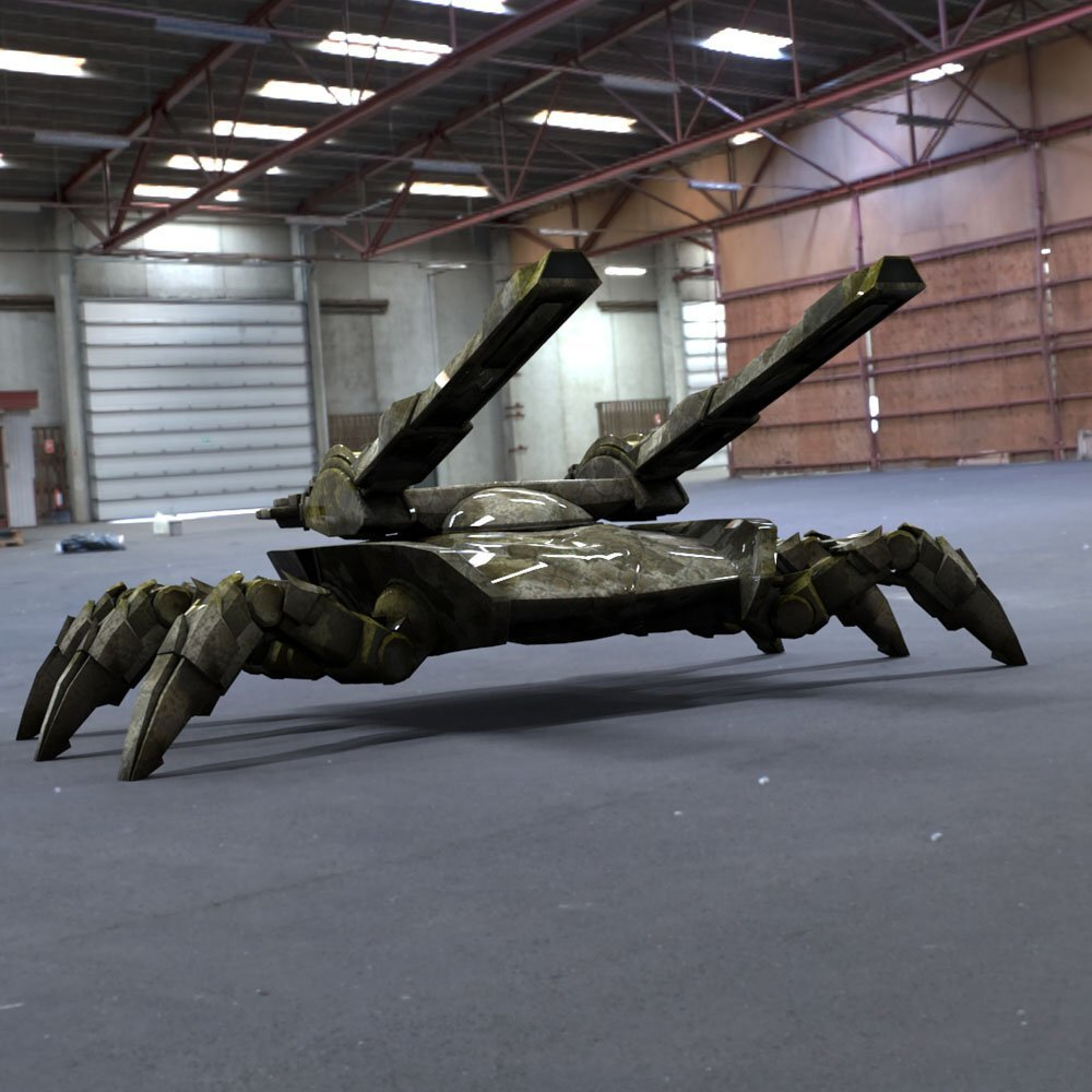 Spider Tank in a Garage