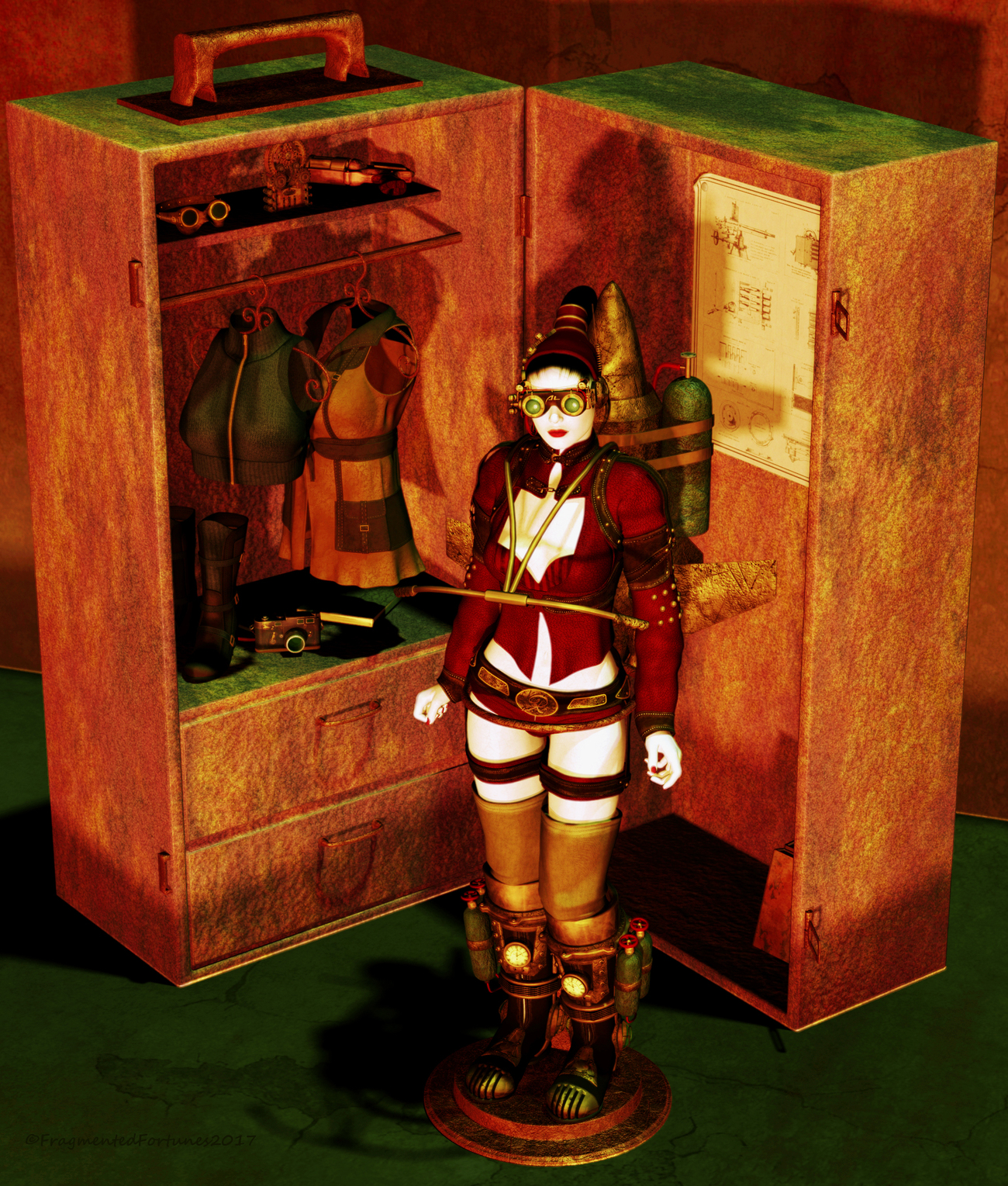Doll Collection - Steampunk Play Set by FragmentedFortunes