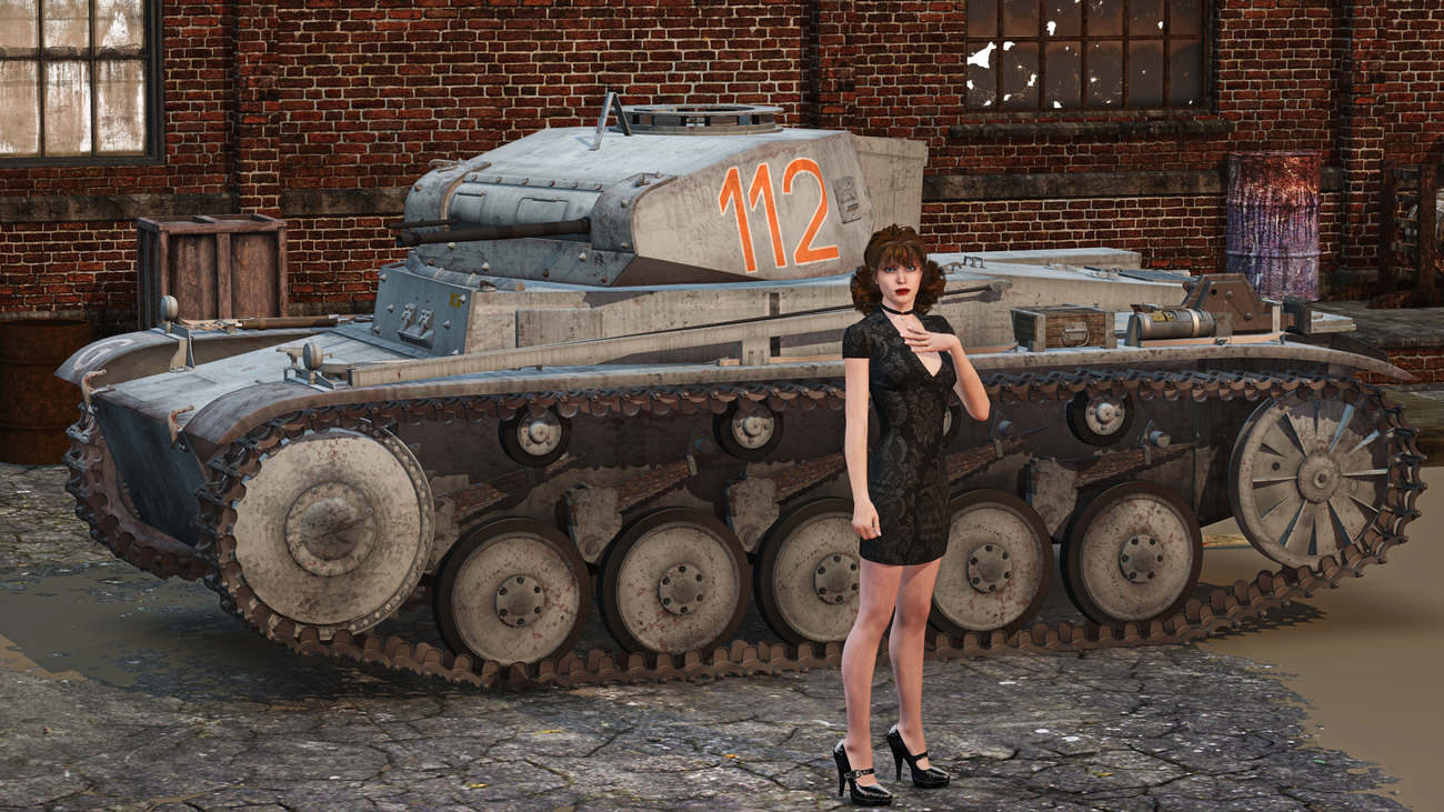 Panzer II - City Pinup by ccbig