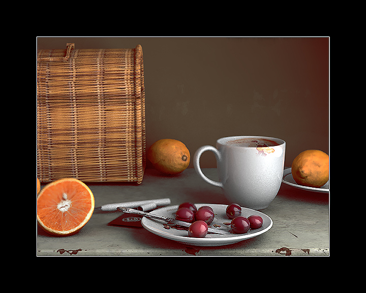 Cup with Cherries