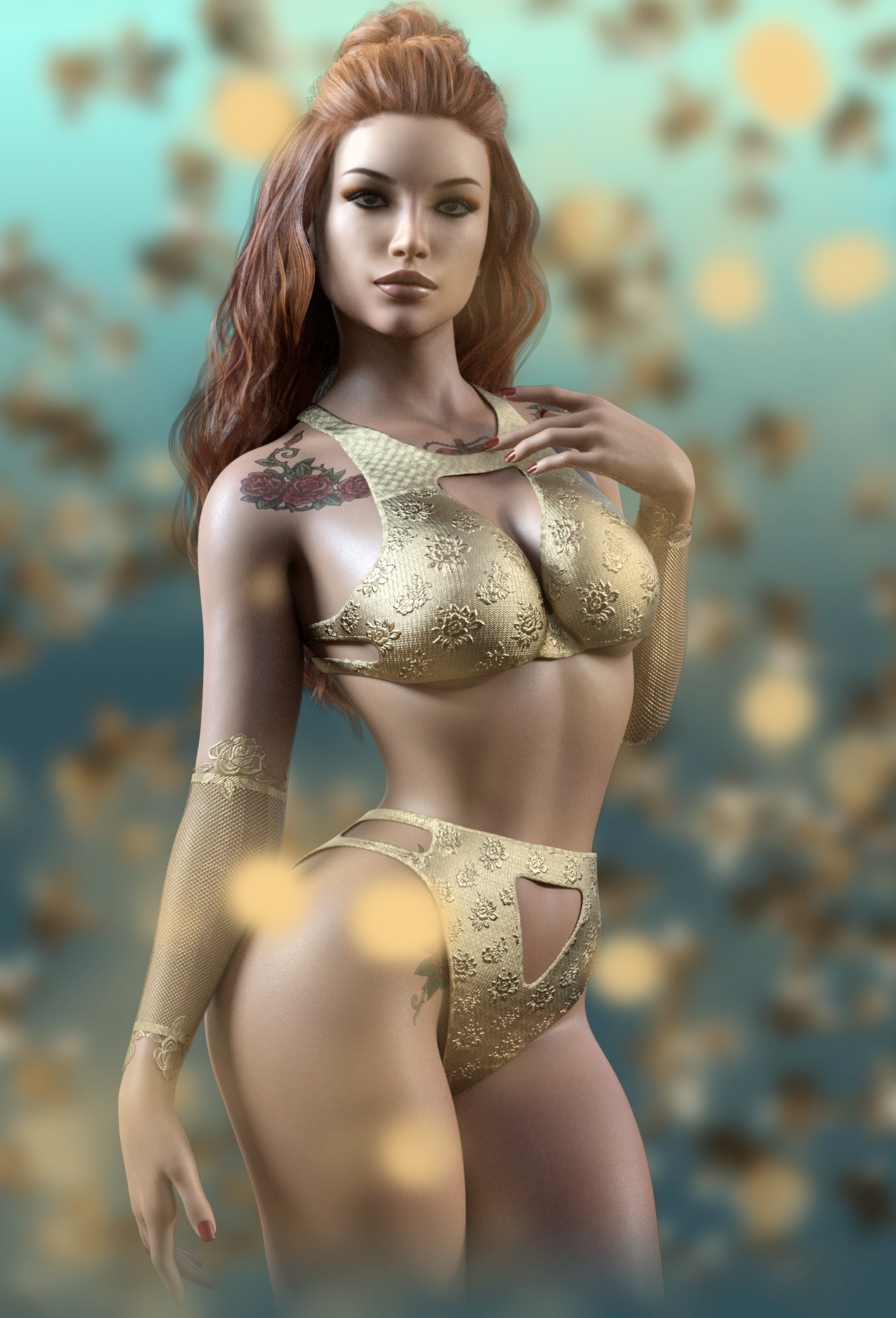 Layla for G8F by 3DSublime & Silver by crender