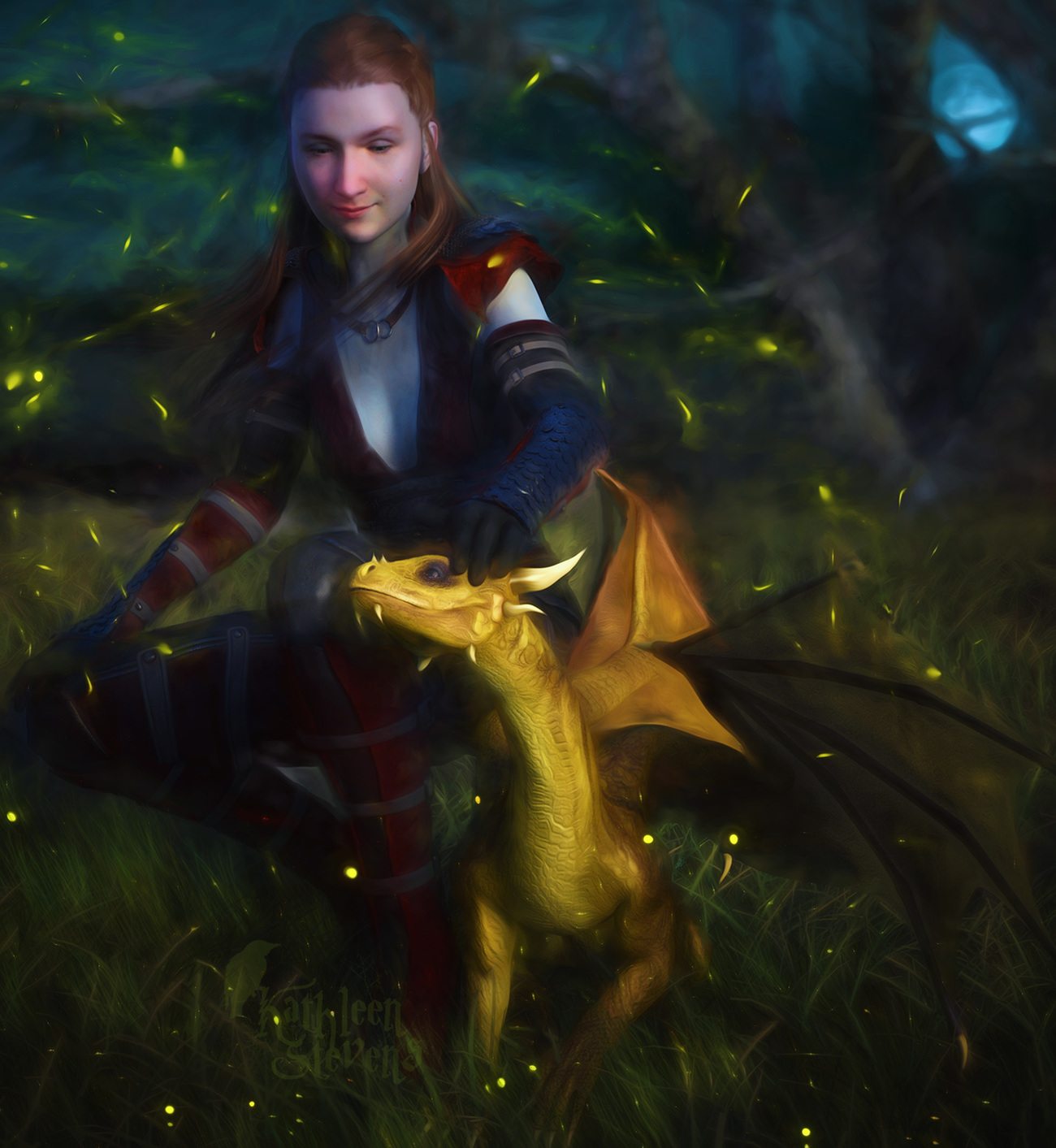 Ty and Dragon by loligagger