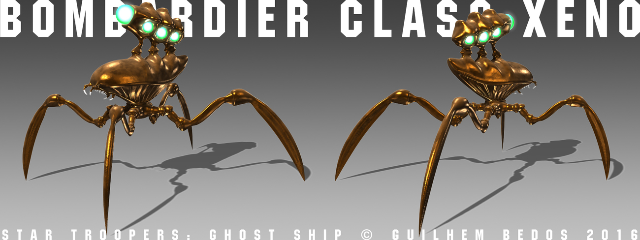 Bombardier Class Alien Bug by Guilhem_Bedos