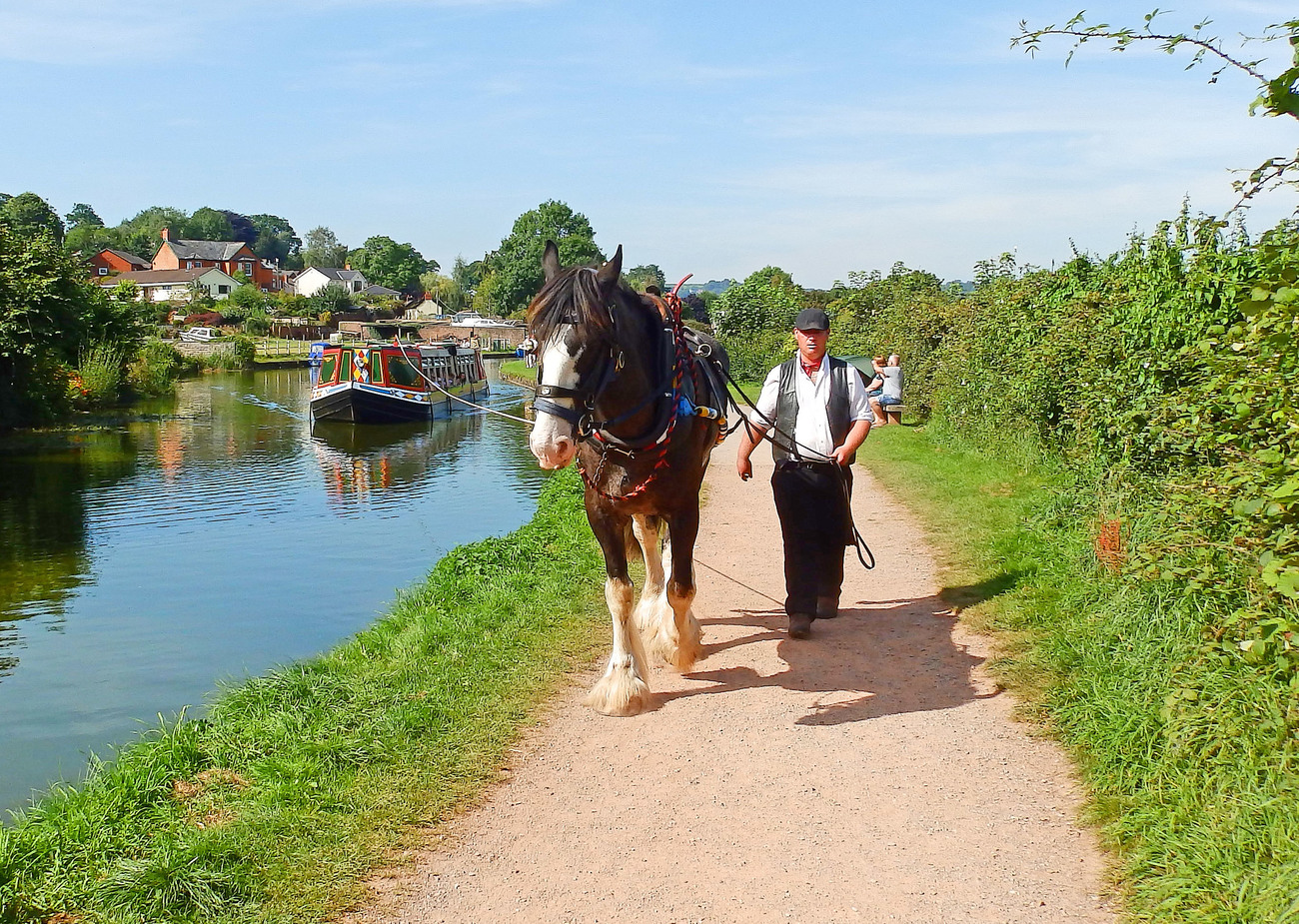 Off along the canal.