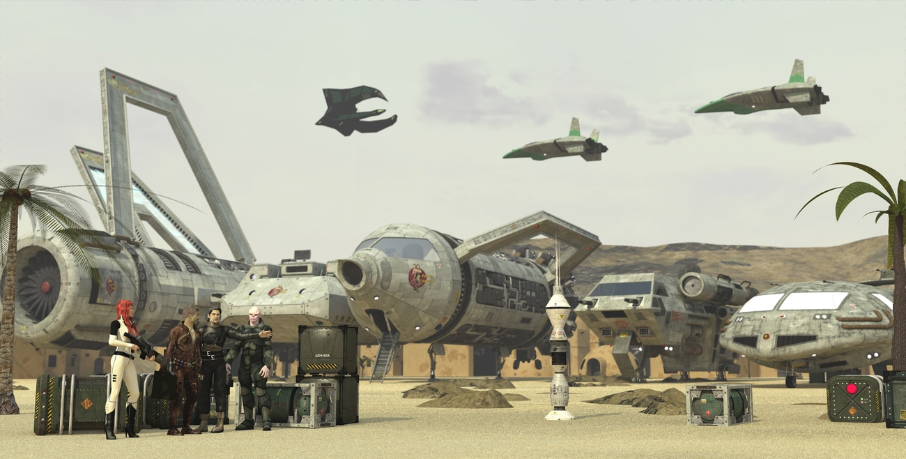 Sandworld Privateers - for print and Sale by 3-d-c