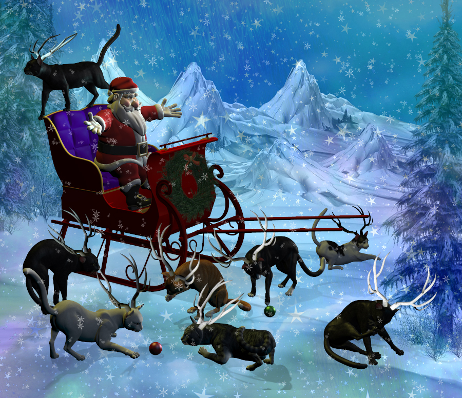 Why Santa uses reindeer and not cats