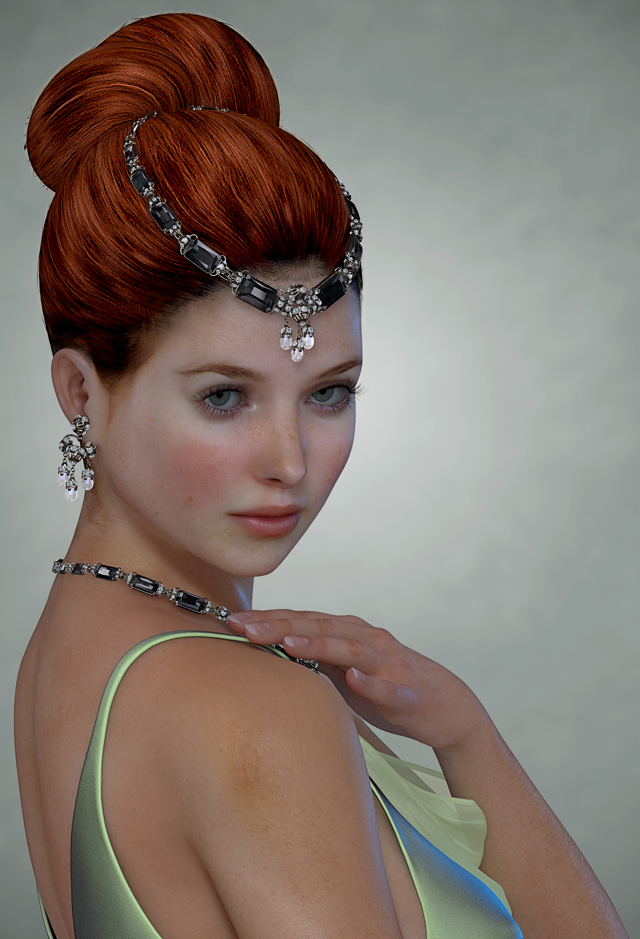 Portrait of a Celtic Beauty by LeReeve