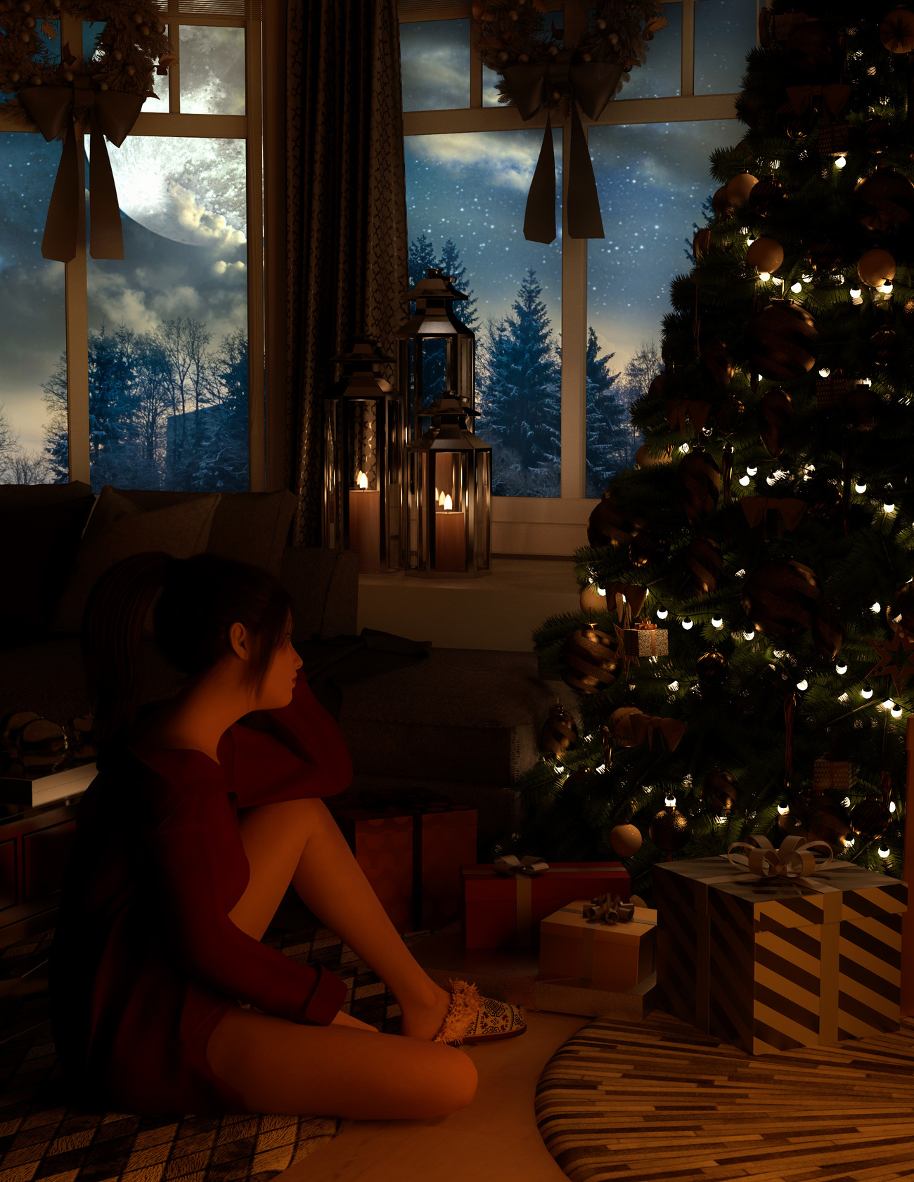 The Night Before Christmas by Calico