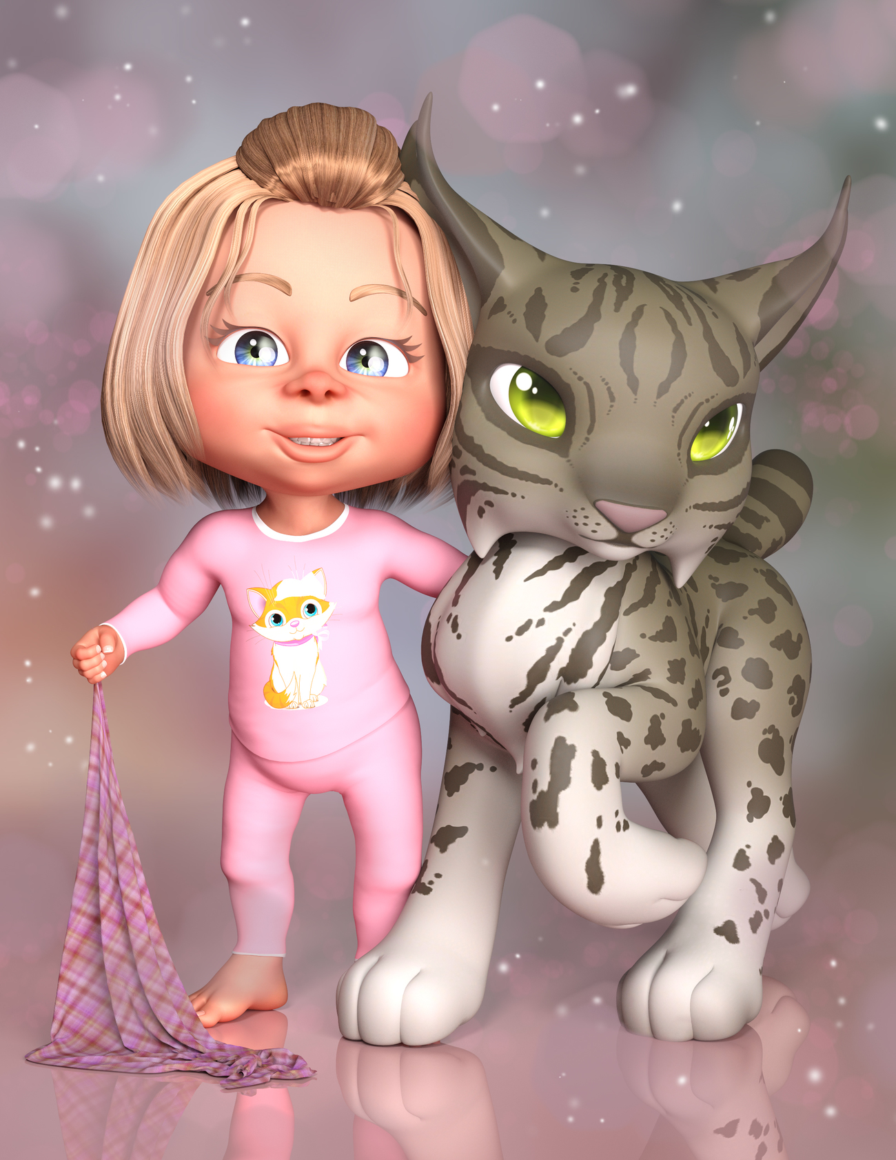 A Girl And Her Lynx by Calico