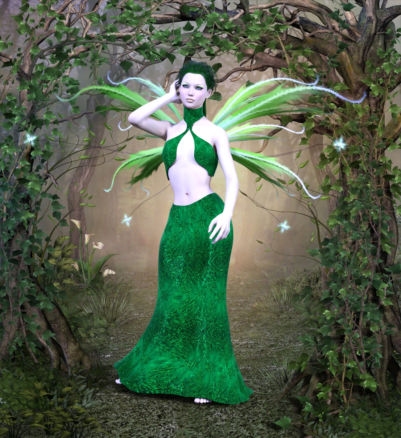 the swamp fairy !! by morganahope