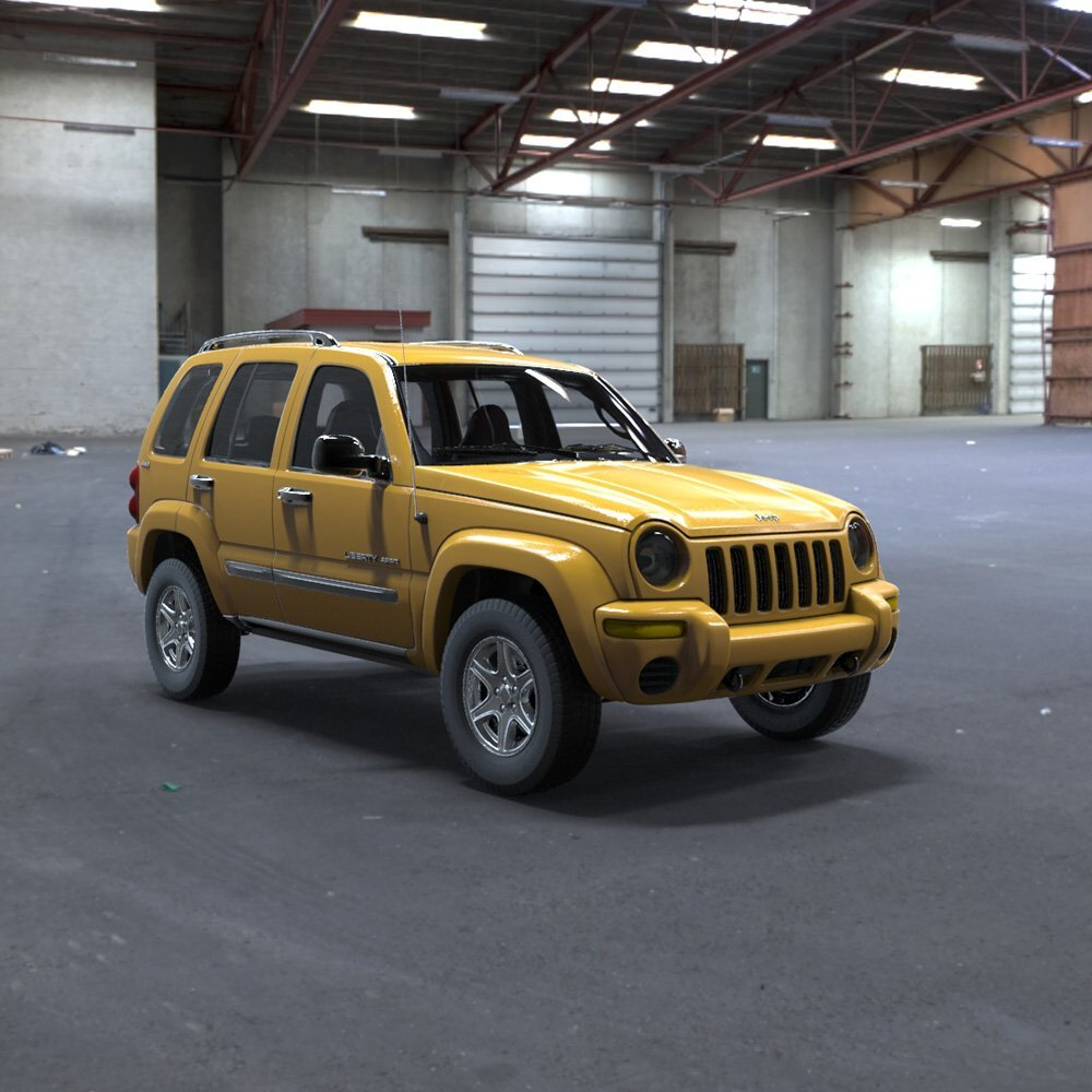 Jeep Liberty in a Garage by VanishingPoint