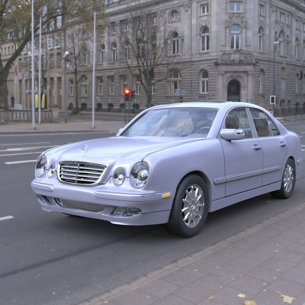 Mercedes Benz E320 in the City by Digimation_ModelBank