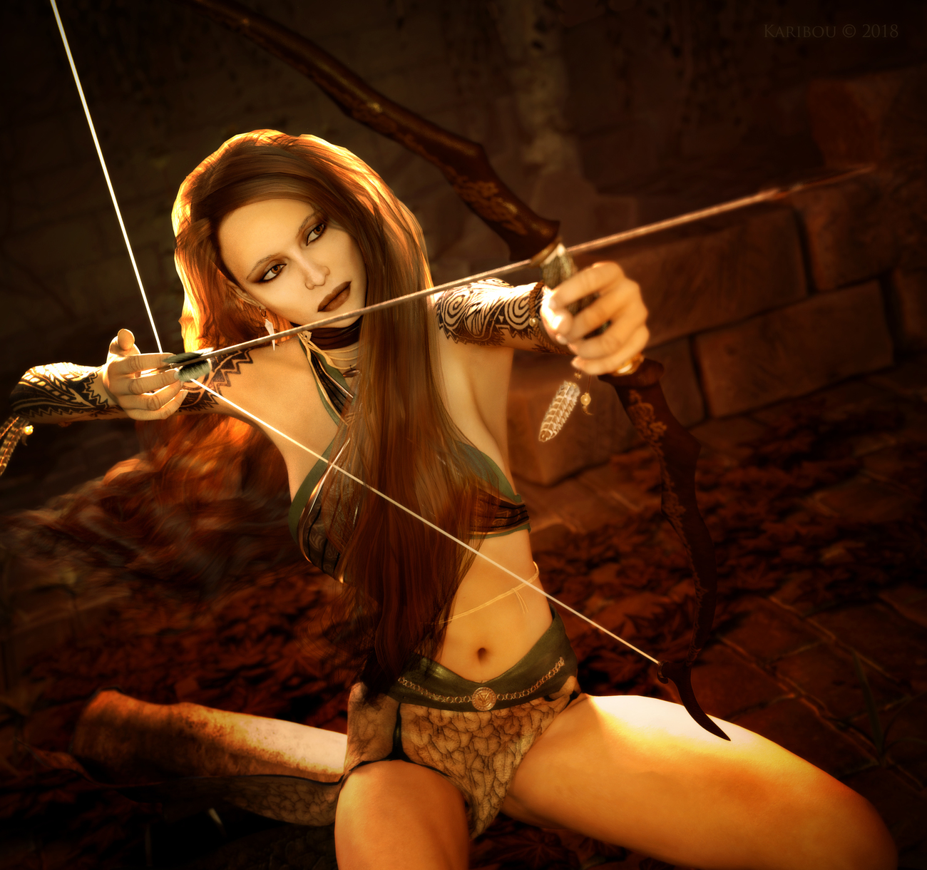 Mistress of The Bow by karibousboutique