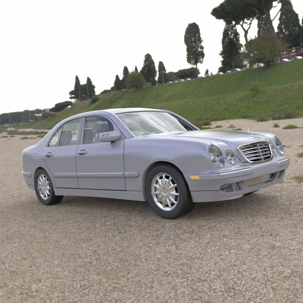 Mercedes Benz E320 in a Field by Digimation_ModelBank