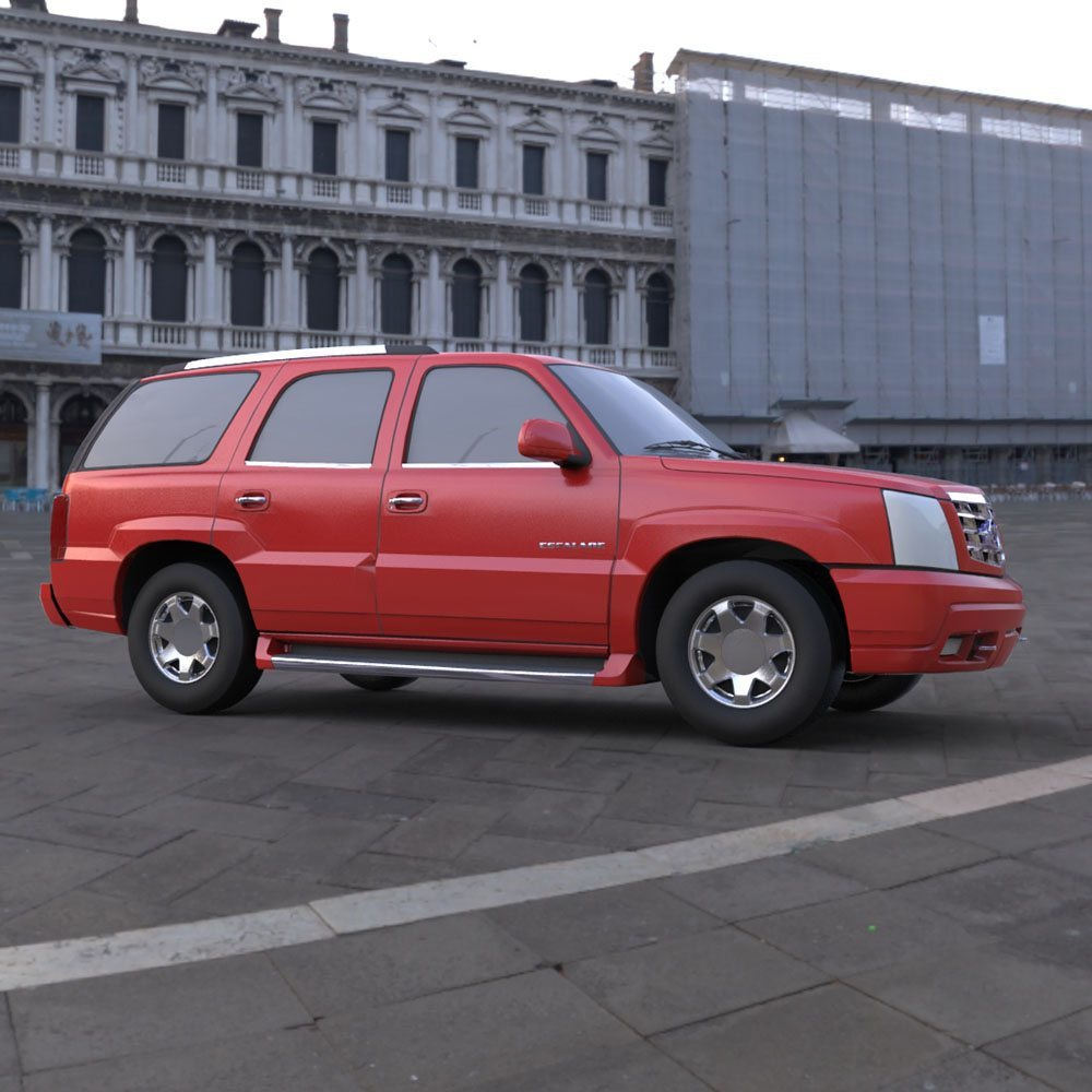 Cadillac Escalade in a Town Square by Digimation_ModelBank