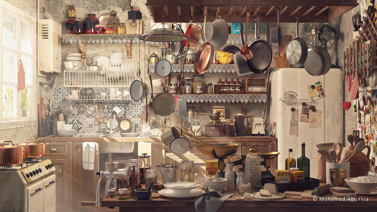 Old Kitchen by abuyhia