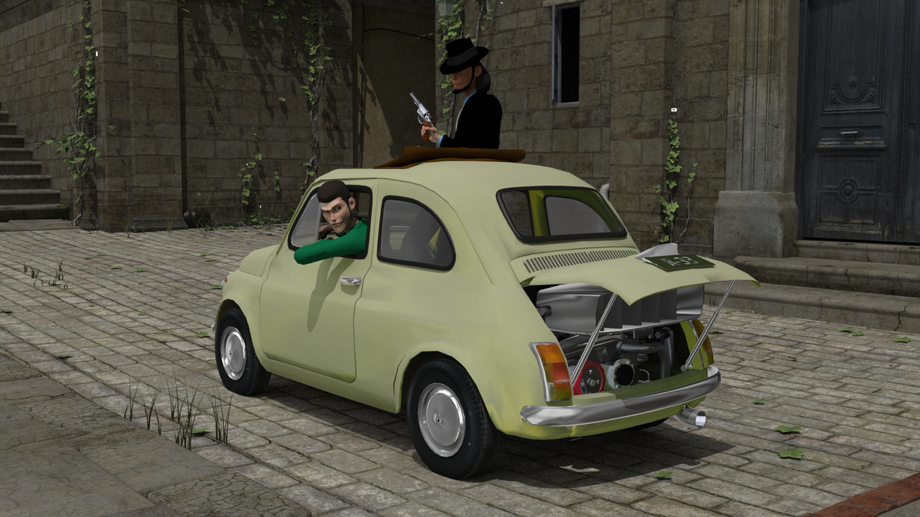 Modified Fiat 500 from The Castle of Cagliostro by freeReef