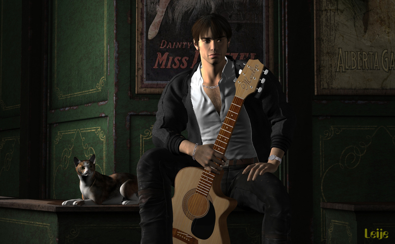 The guitarist (2) by Leije