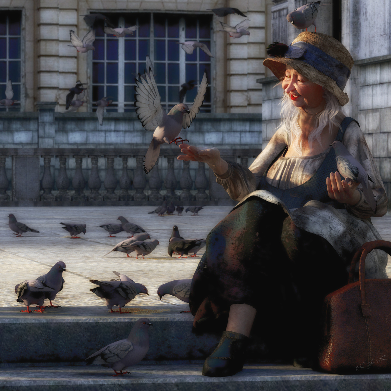 Feed the Birds by dollmommy