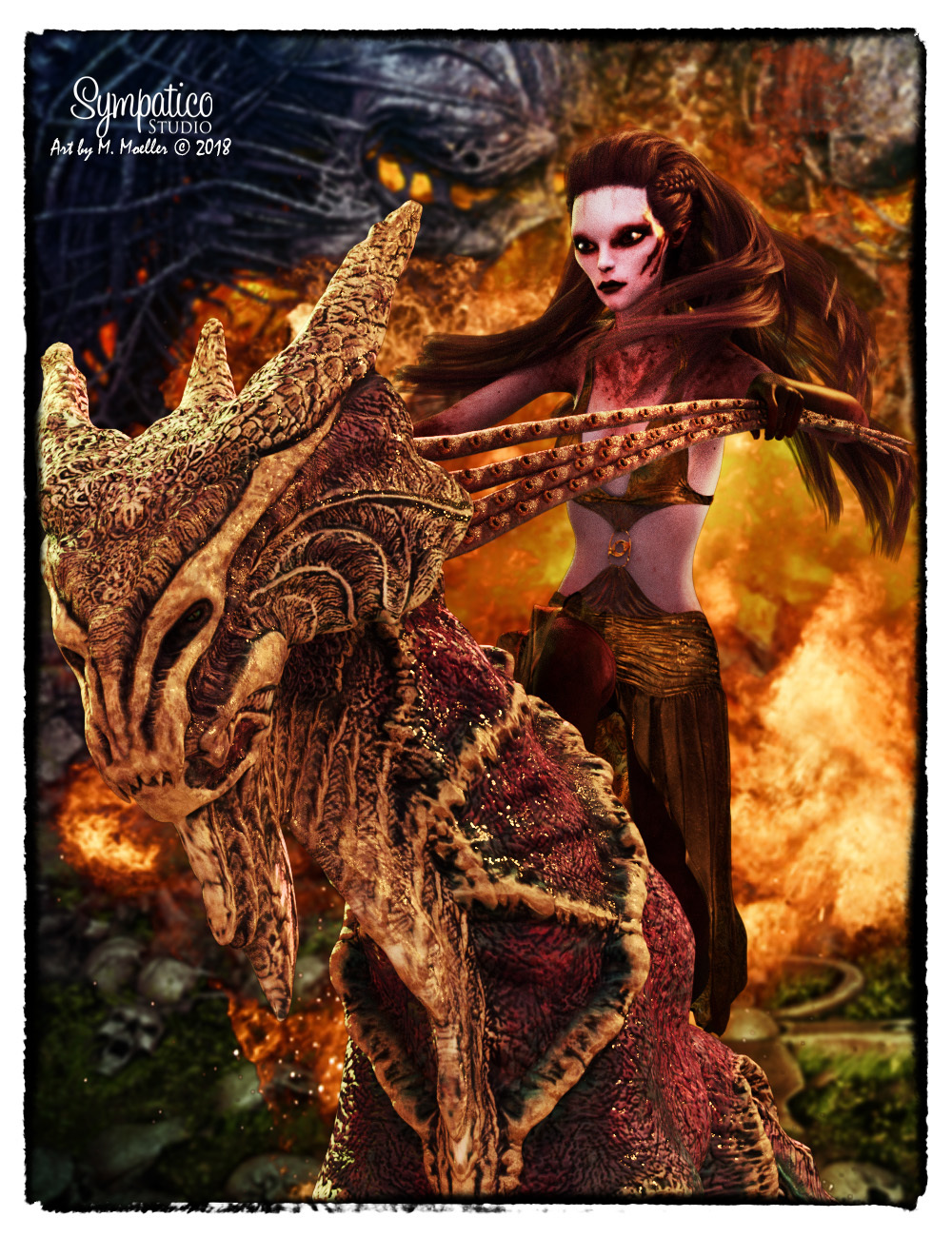 Rider from hell for  ilona, j-art & PeterNeuro by Nyala