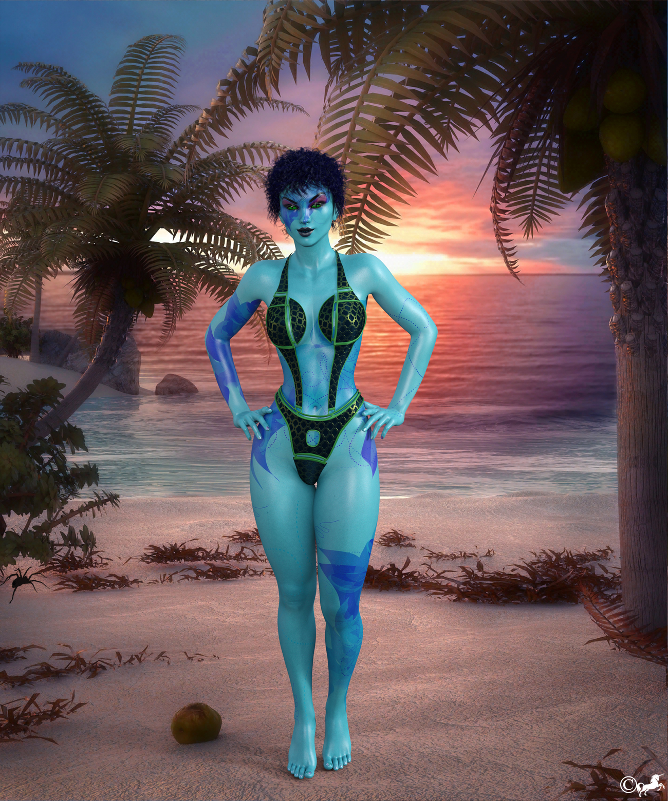 DAZ 270 or Alien Beach beauty by miwi