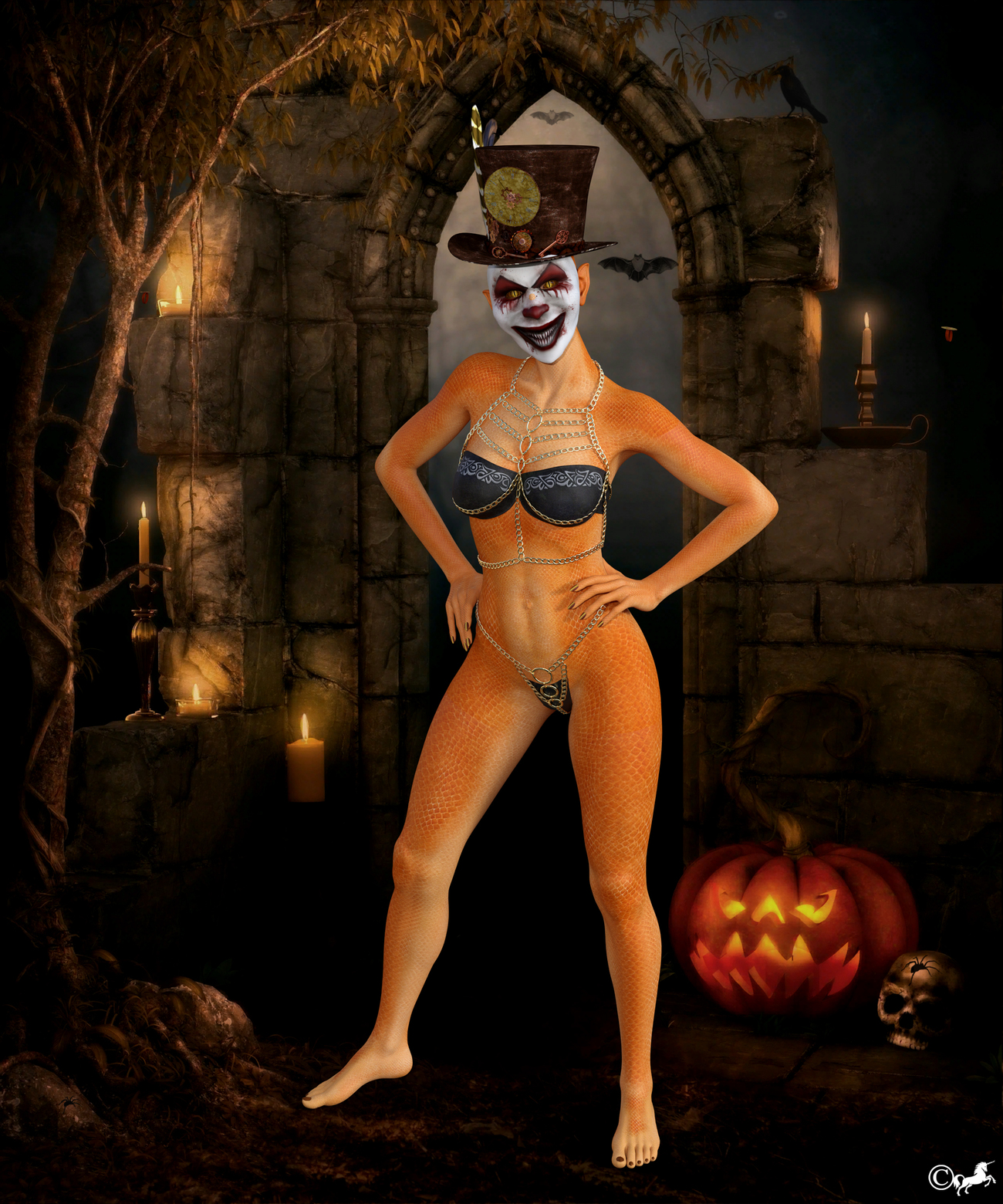 DAZ 273 or Preparing for Helloween by miwi
