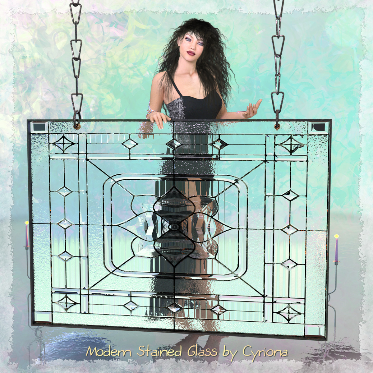 Modern Stained Glass by Cyriona
