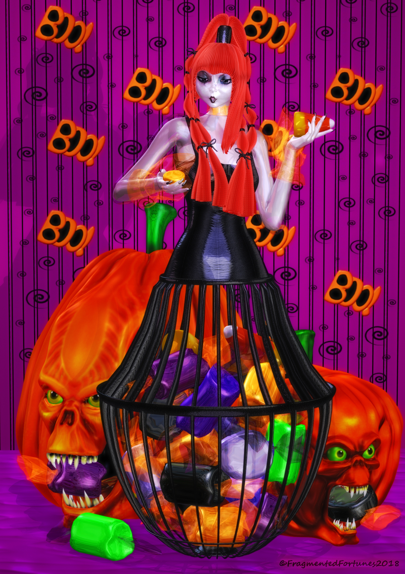 Halloween Candy Doll by FragmentedFortunes