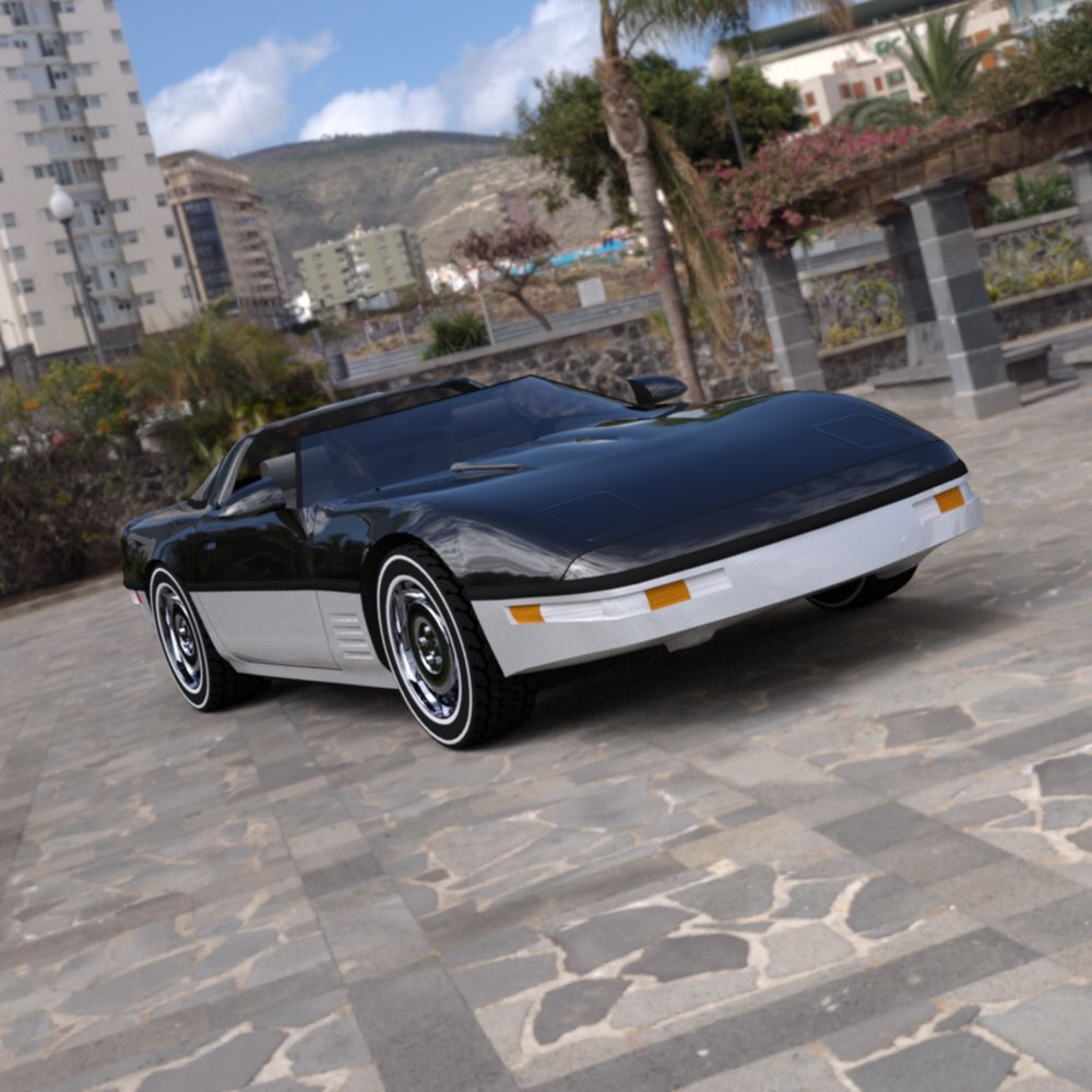 Corvette ZR-1 in a Parking Lot by Digimation_ModelBank