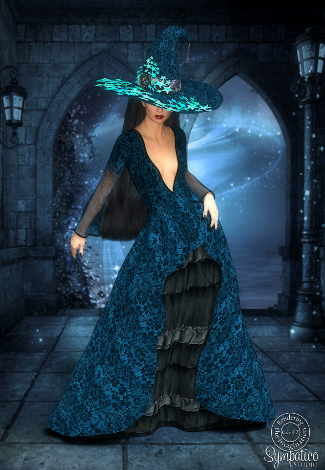 Autumn Witch in Blue by CaperGirl42