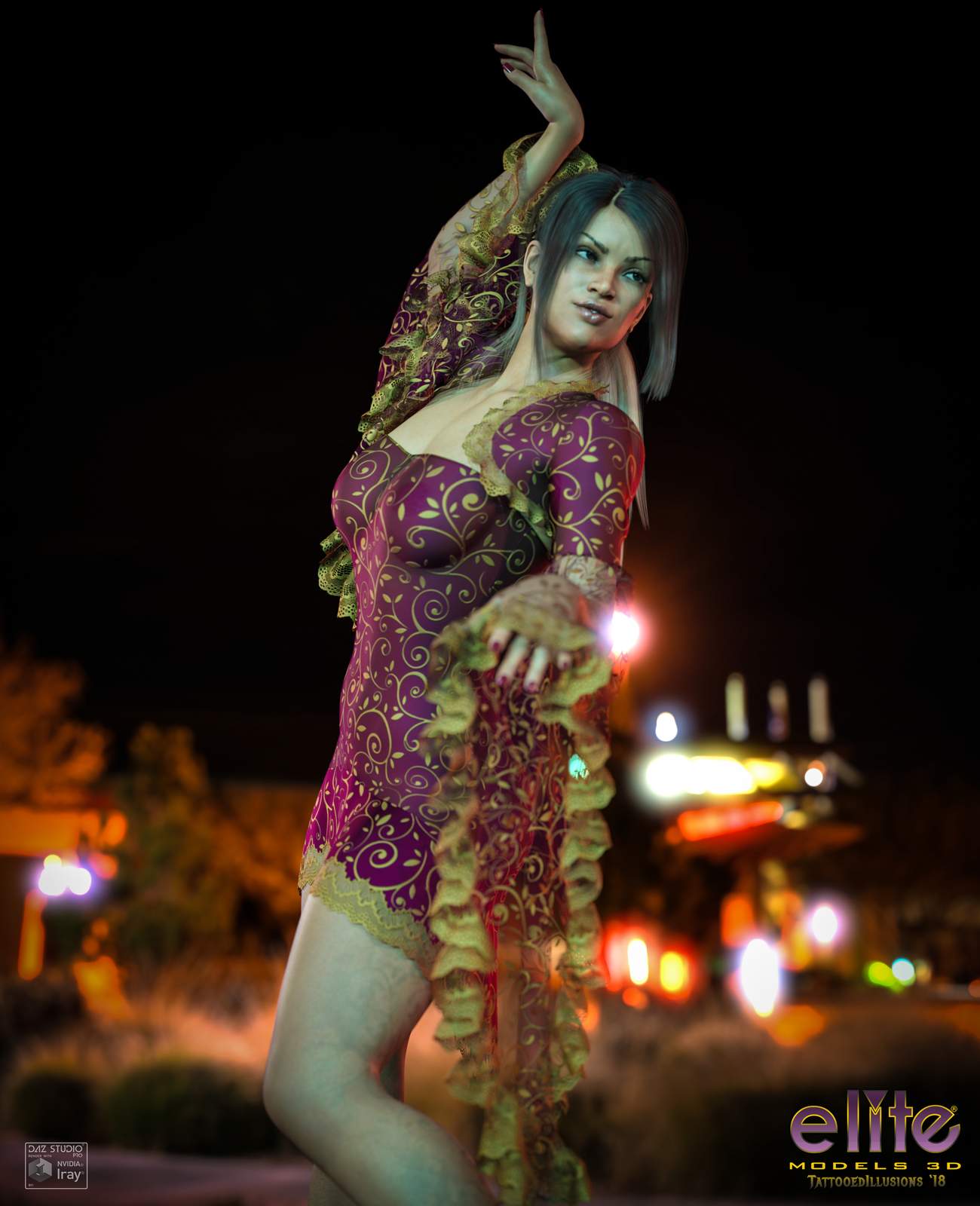 Flamenco Nights for Lully by TattooedIllusions by EliteModels3D