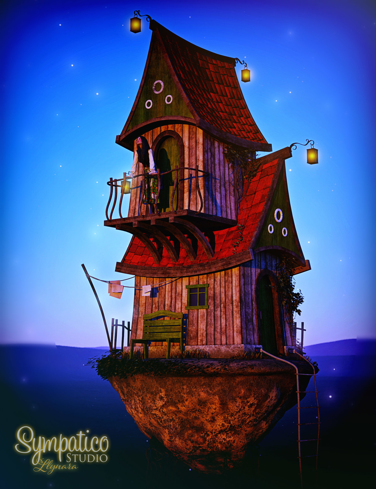 Flying House by llynara