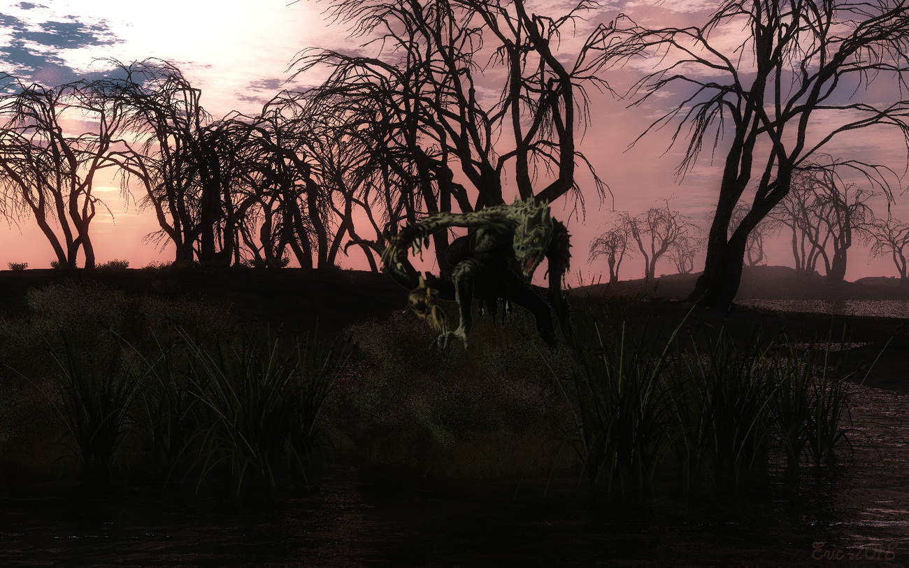 Godevin the ugly demon come from the swamps. by Ourias3D