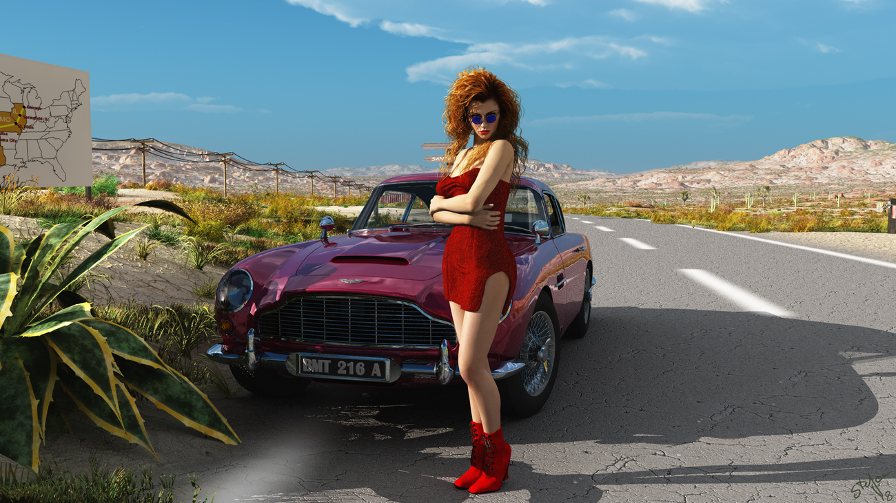 Girl on Route66