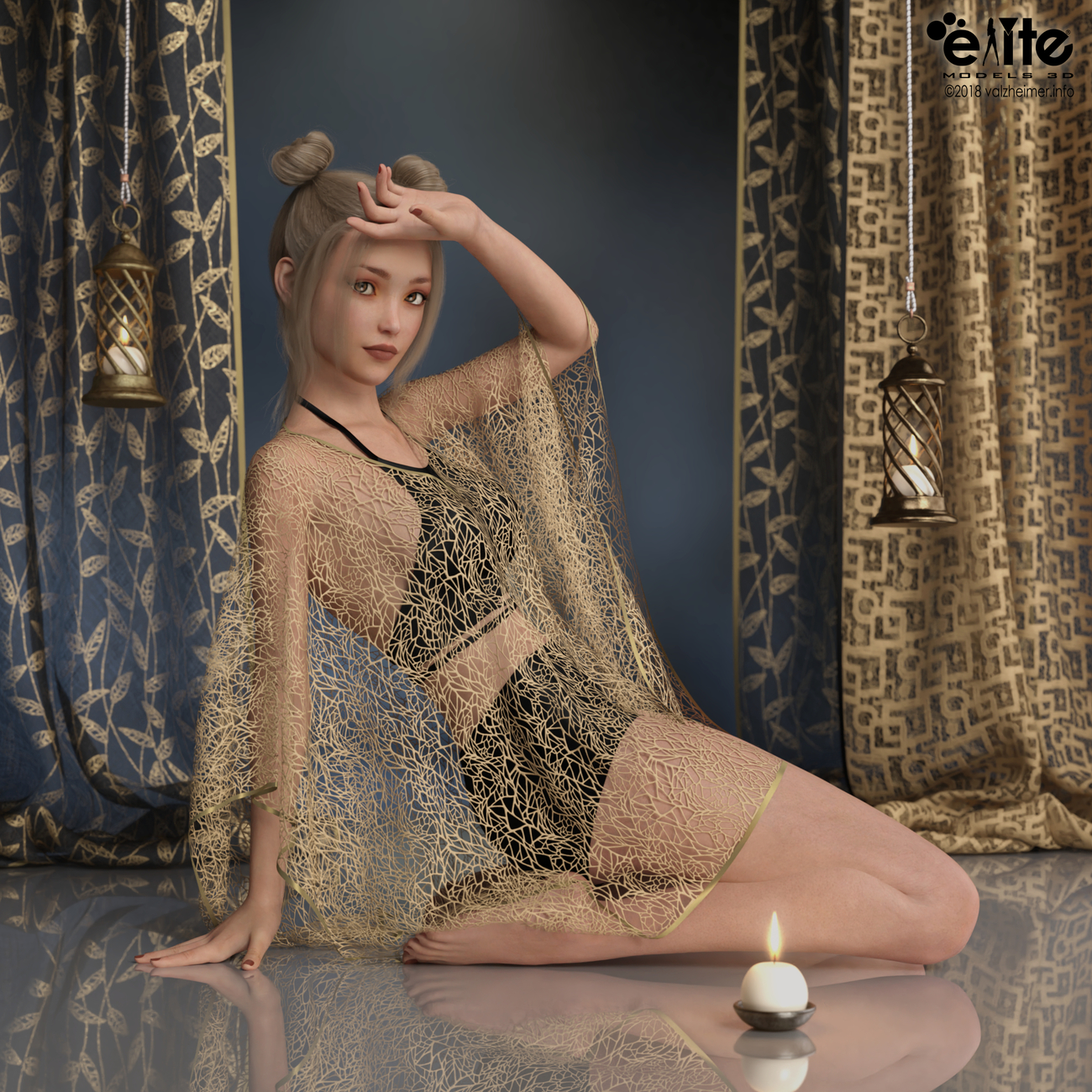 Lace and Linen for Fabiana by valzheimer by EliteModels3D