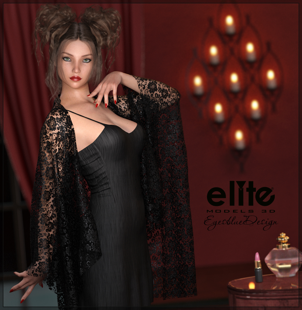 Lace and Linen for Fabiana by EyesblueDesign by EliteModels3D