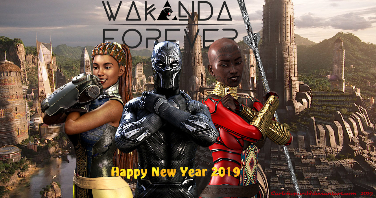 Black Panther New Year! by Vision85
