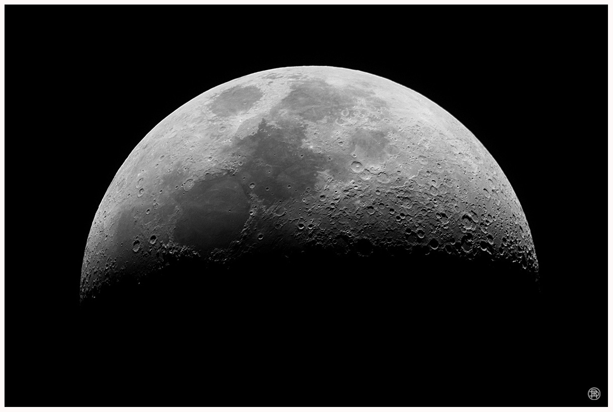 Waxing Crescent Moon by DAVER2112