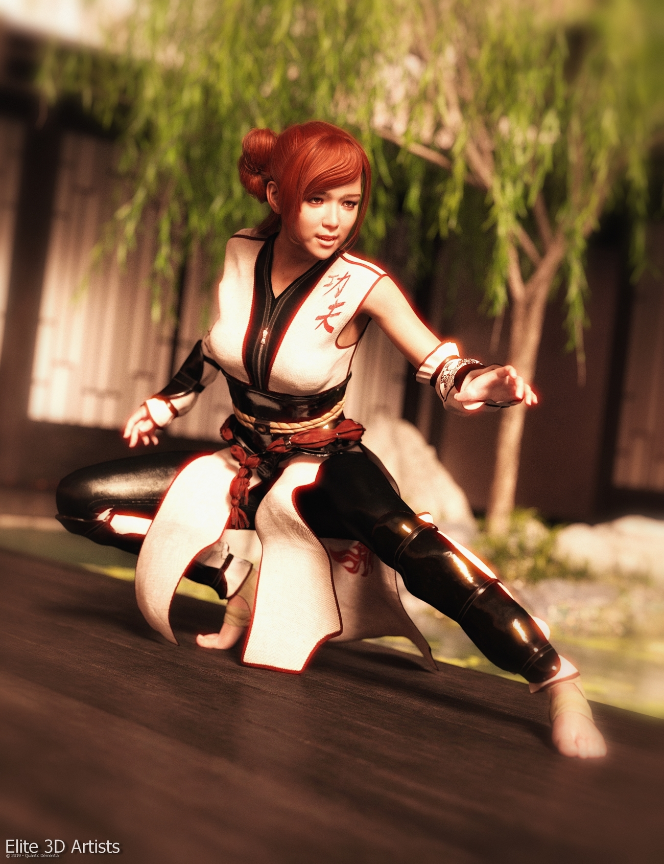 Promo Render - Kung Fu Outfit G8F by quanticdementia