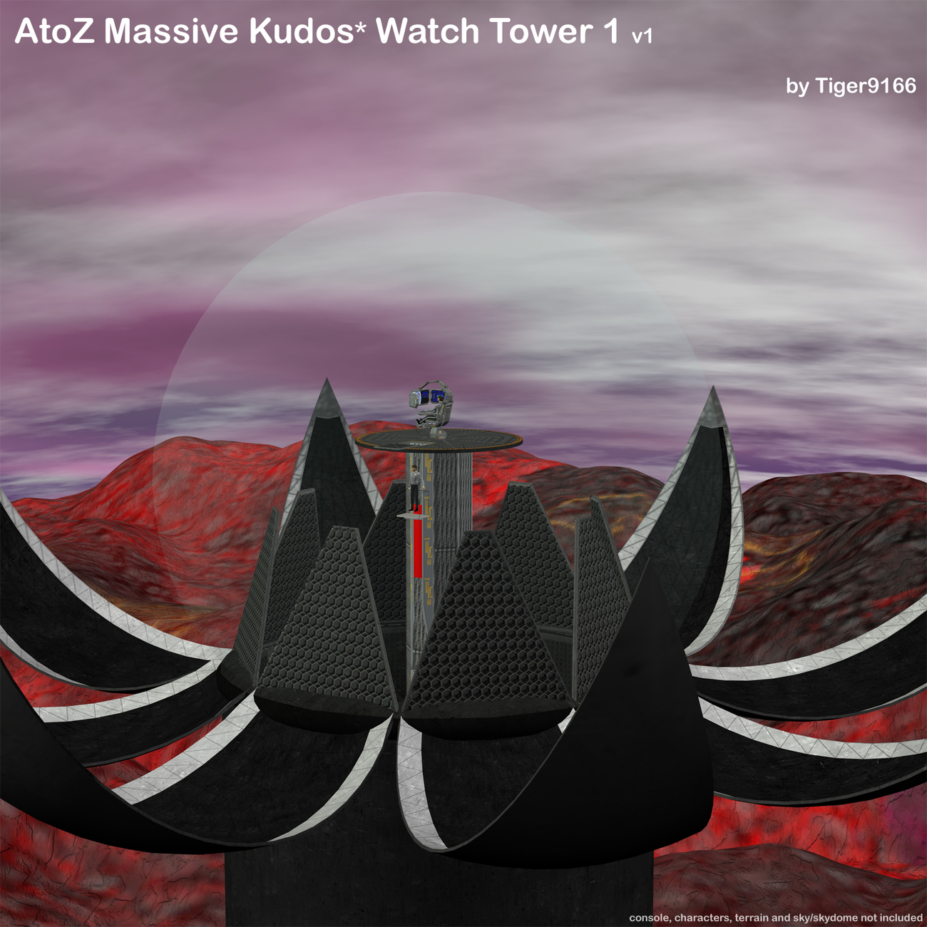 Kudos Watch Tower - Poser 7 Render