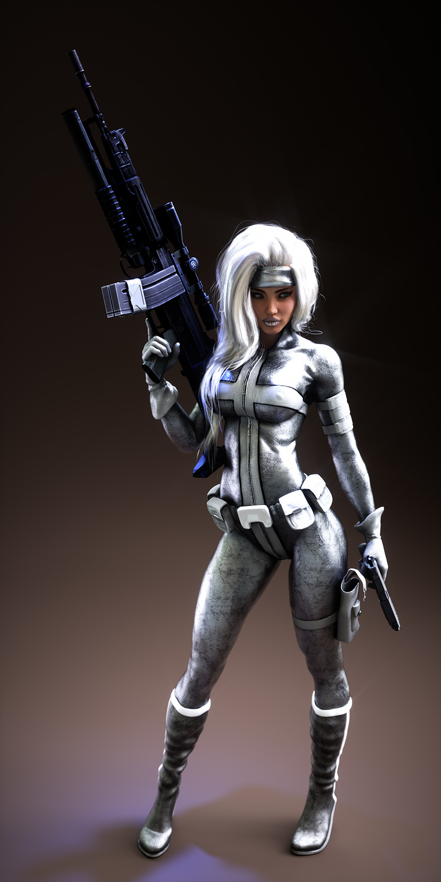 Silver Sable by Jelly_Bean