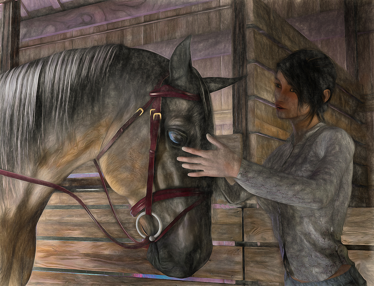 Her horse by martial